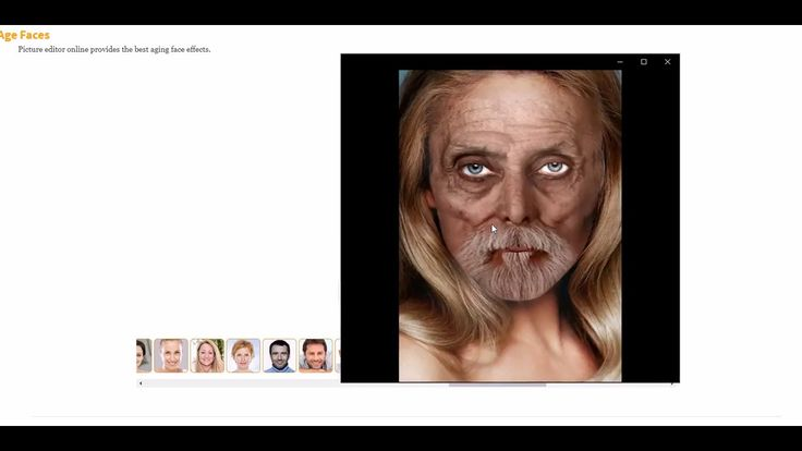 Picture editor online provides the best aging face effects.