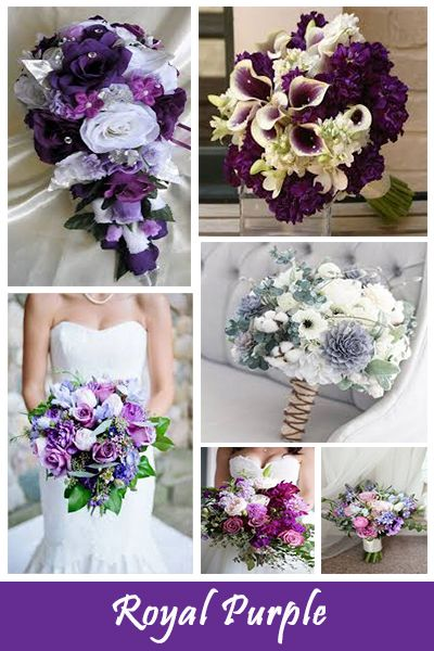 6d1c9ea18b3 Royal purple wedding bouquet inspiration. For more ideas for your wedding  have a look at