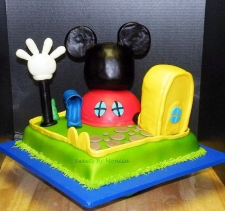 Mickey Mouse Clubhouse Birthday Cake  Vanilla Cake and Buttercream