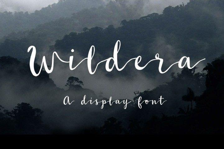 FREE Wildera Font By Johan Nayar