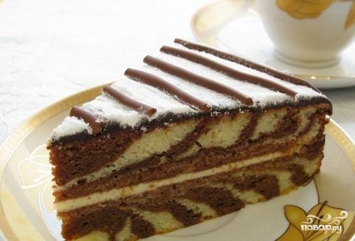 Сметанный крем с какао для торта