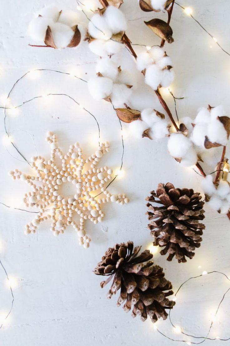 A Pair & A Spare | Make this Pretty DIY Beaded Snowflake Ornament