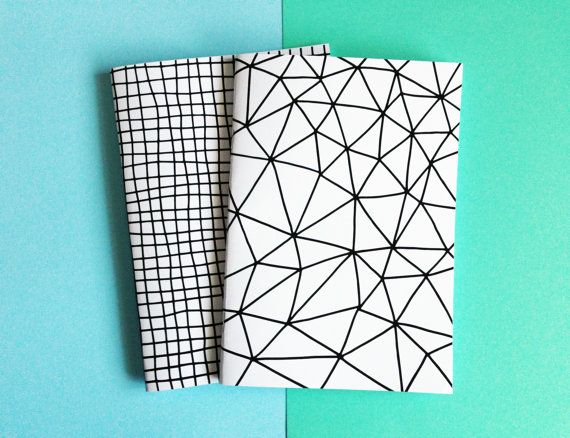 A5 Notebook Geometric Pattern Handmade, Sketchbook, Journal, Diary, Stocking Filler, Gifts For Stationery Addicts