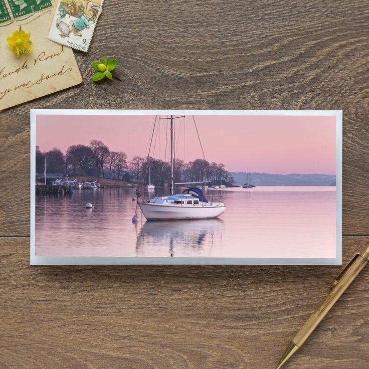 Single Blank Card by landscape photographer Nina K Claridge – Sailing Boats on Windermere