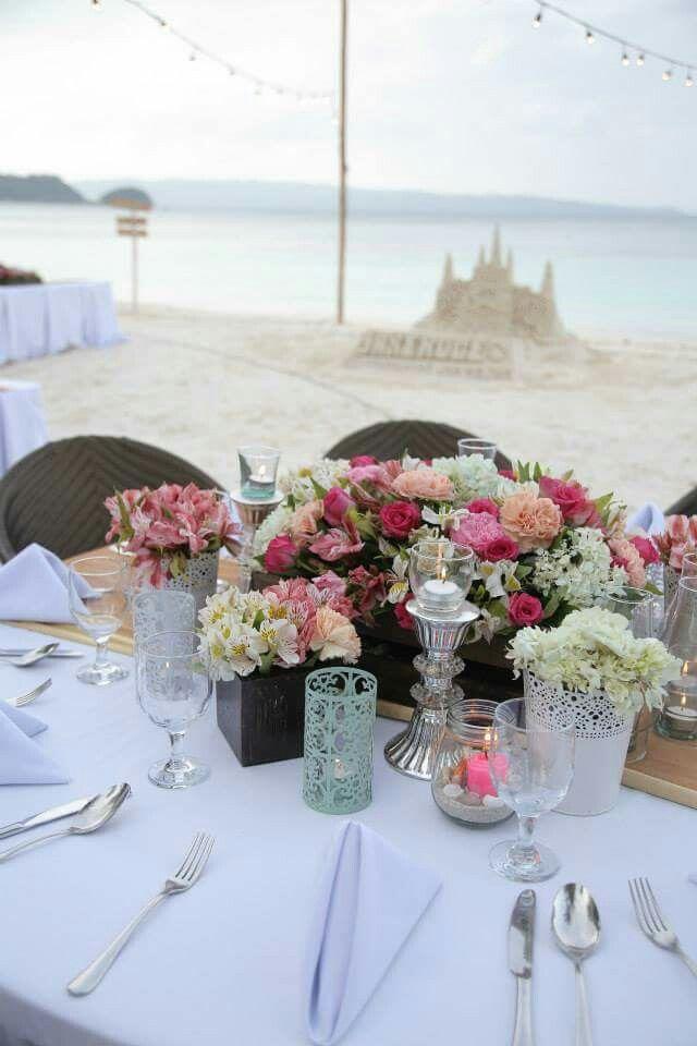 Table Set-up #janeroge #jaro July 08, 2015 Boracay Island, Malay, Aklan, Philippines #dreamwedding #beachwedding #toalifetimeofadventurestogether