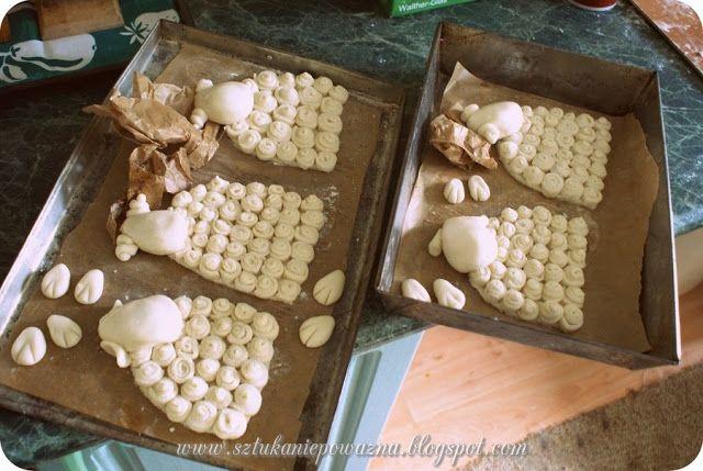 Comment faire agneau avec la masse de sel de Pâques? - Cours ~ *** *** Art n Epoważna Natalia Fun