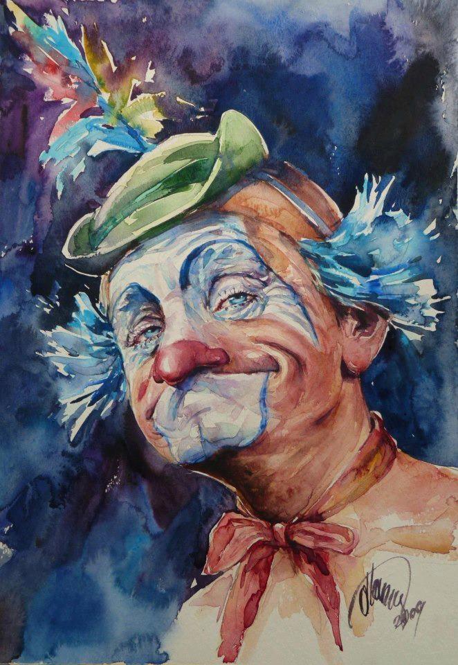 Pixelle.co: Atanur Dogan #art #clown #painting