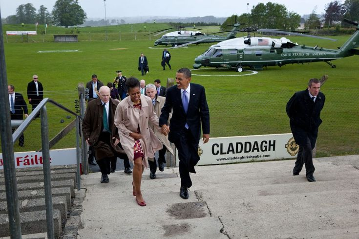 Official Visit to Ireland, May 23, 2011 The First Lady wore Marc Jacobs, BFA Fashion Design '84, as she boarded a plane in Ireland after President Barack Obama visited the birthplace of his great-great-great-grandfather in Moneygall.