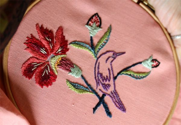 Best embroidery birds animals insects images on