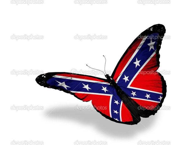 Images For > Rebel Flag Butterfly Tattoo