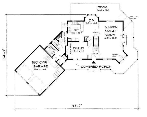 First Floor Plan Of Farmhouse House 67272