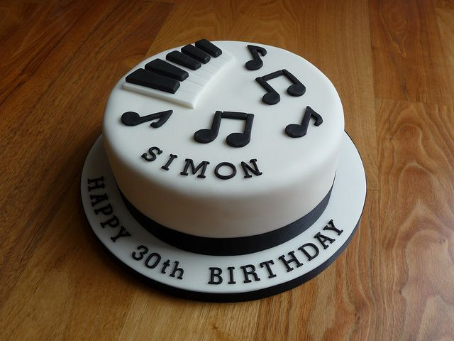 Piano themed 30th Birthday Cake by Susie 99, via Flickr
