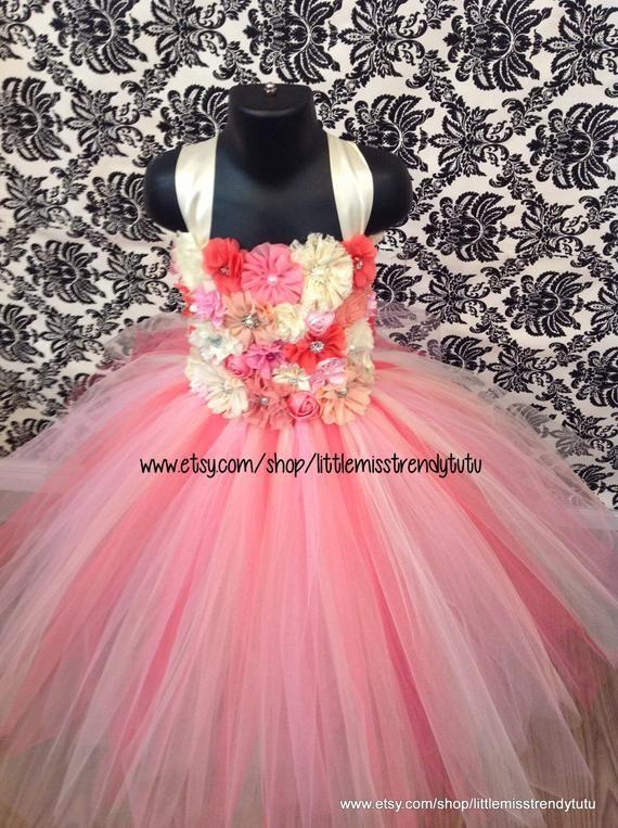 c90340c5751a Couture Flower Girl Tutu Dress