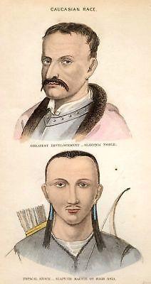 Pickering's - Races of Man - 1851 - CAUCASIAN RACE