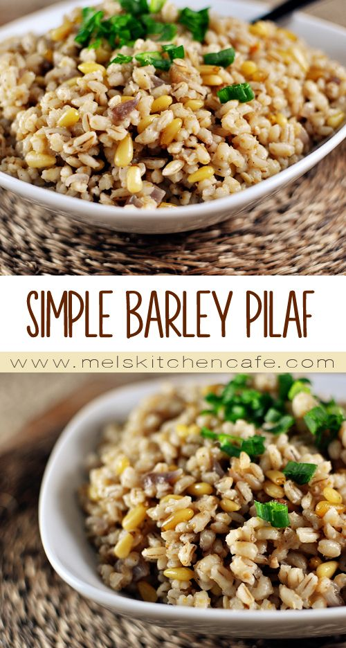 High-protein, high-fiber barley makes a delicious baked pilaf that is flavorful, tender and pairs wonderfully with many dishes.