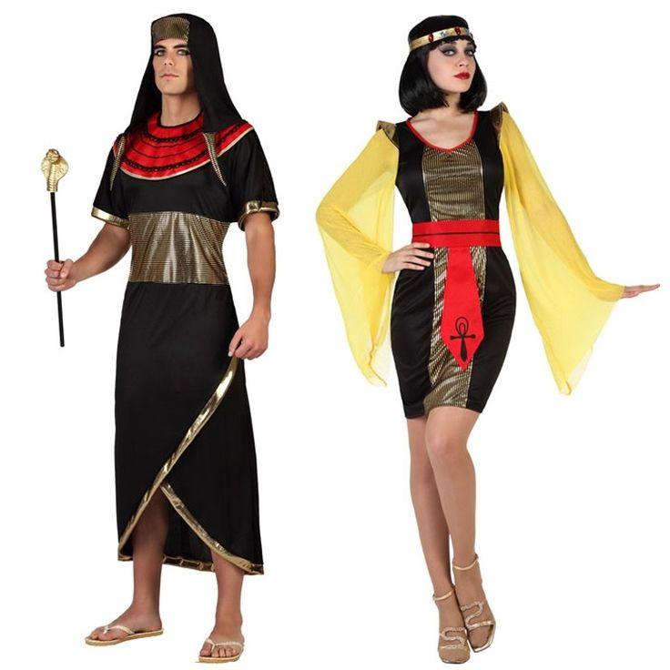 Pareja Disfraces Egipcios Negros #parejas #disfraces #carnaval