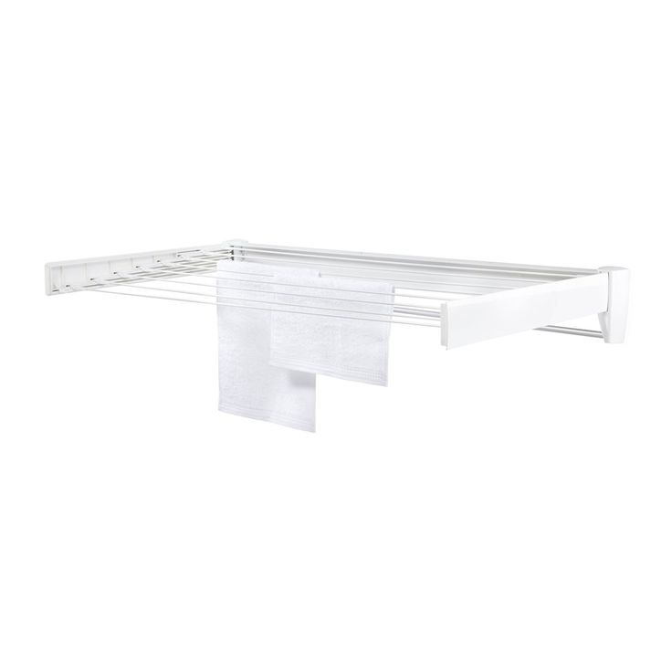 Hang de was boven het bad, laat het vollopen en de stoom verwijdert de kreukels! Het Leifheit Telegant 81 Protect Plus droogrek monteer je eenvoudig aan de muur, zodat je zonder rommel in huis je was droogt. Handig, is ook voorzien van handdoekrek.
