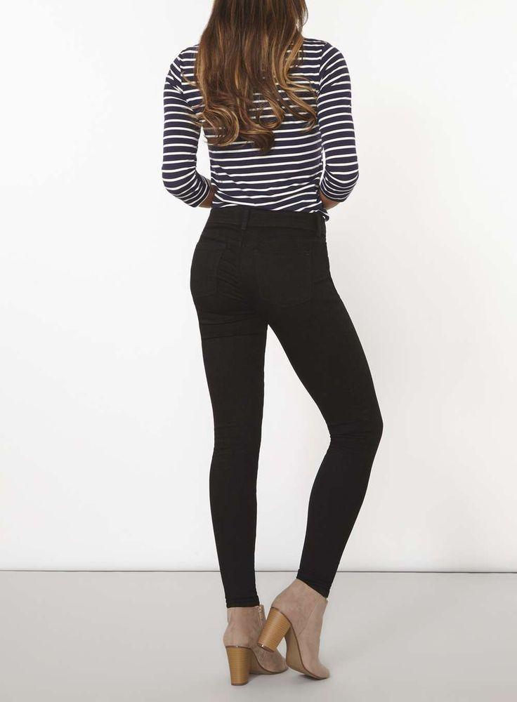 Womens Black 'Bailey' Super Skinny Stretch Jeans- Black