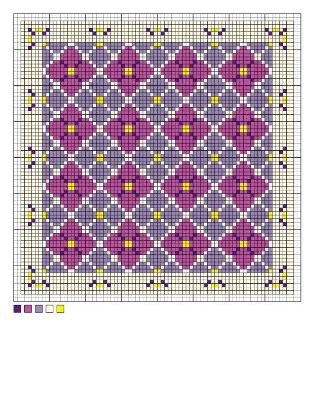 Wayuu Mochila pattern hydrangea