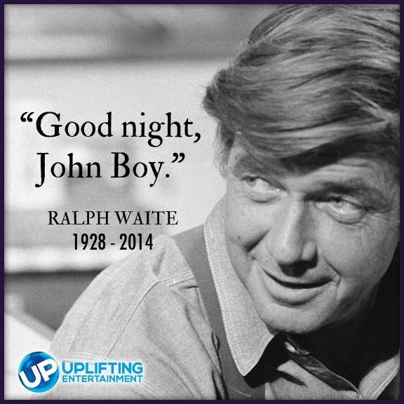 From UPtv Please join us in prayer for the passing of actor Ralph Waite. You can continue to see him as John Walton, Sr. on The Waltons weekdays at 9&10am ET as well as this Sunday at 9&11am ET in A Wedding on Walton's Mountain and A Walton Wedding on UP.