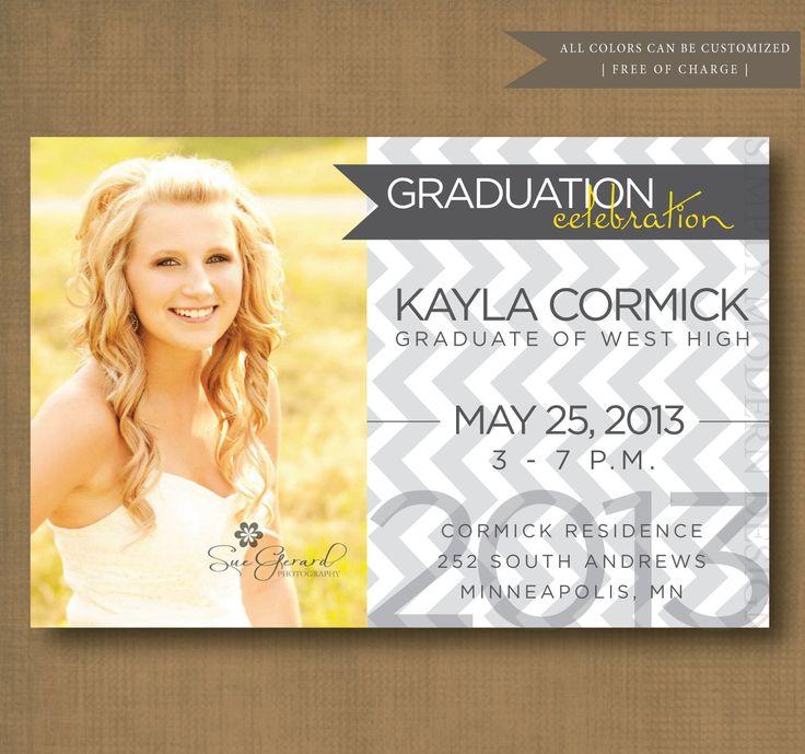 graduation announcement invitation open house card senior
