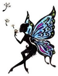 Image result for fairy tattoo silhouette goth