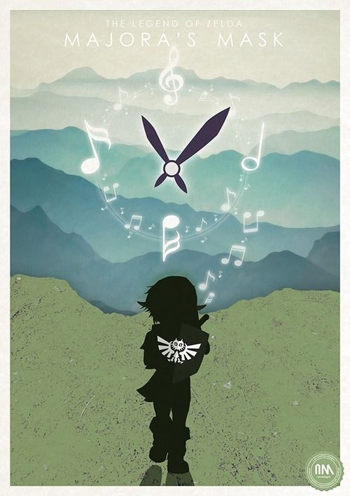 Legend of Zelda Majora's Mask Poster - Ari Martinez