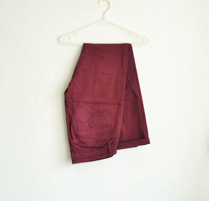 Spodnie jeansy marsala bordowe burgundowe cegliste rurki boyfriend vintage M 38