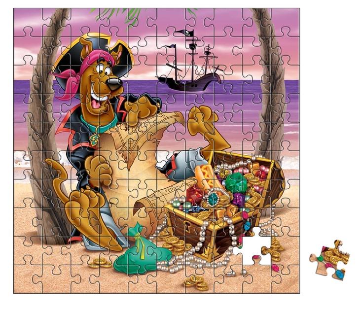 This gigantic 250-piece jigsaw puzzle showcase colourful illustrations of Scooby-Doo and the gang. It will challenge your child's puzzling skills and keep them entertained for hours!