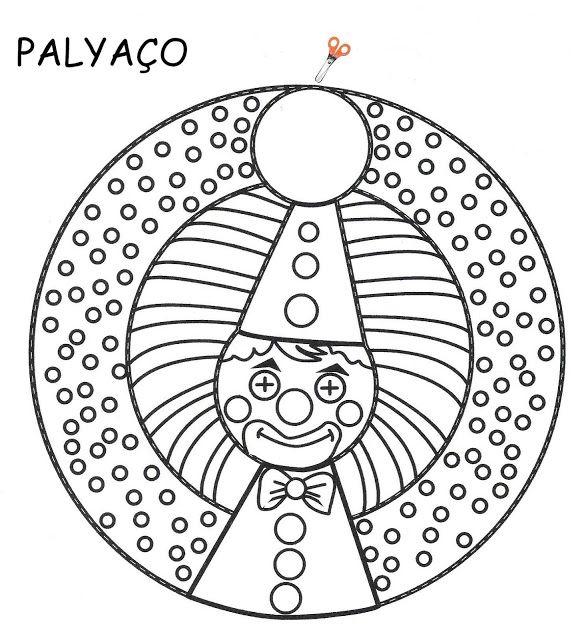 Palyaco Sanat Boyama Sayfalari