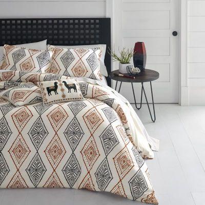 Azalea Skye Cusco Rhombus Beige Duvet Cover Set