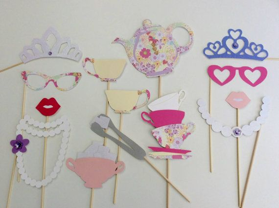 Tea Party / Royal Tea Party Photo Booth Props/ Party Props Check out this item in my Etsy shop https://www.etsy.com/listing/258924524/tea-party-photo-booth-props-royal-tea