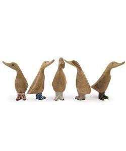 Dcuk ænder/ælling med gummistøvler Welly Ducklings lille