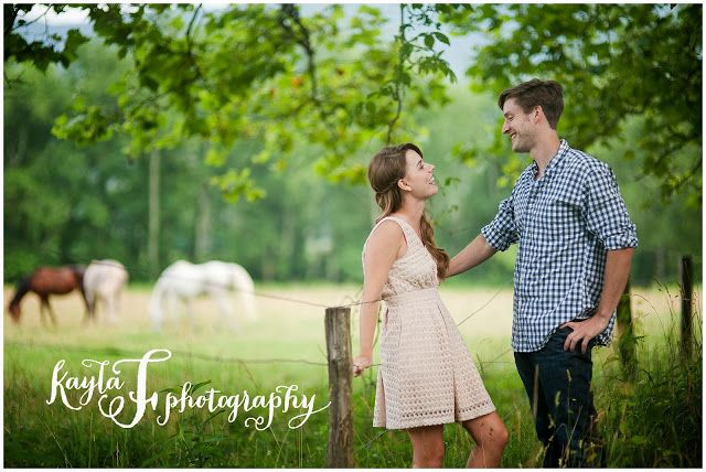 Engagement Session, Engagement, Cades Cove, East TN, Mountains, Fields, Wheat Fields, Horses, Horse Field, Fence, Photos by Kayla F Photography