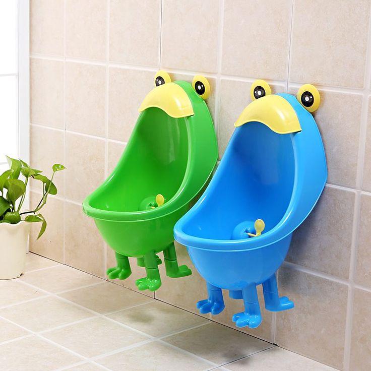 Cartoon Toilet Kids Baby Potty Urinals Boy Cute Kid Potty Toilet Training Kids Urinal Plastic Animals Standing Potties With Foot #Affiliate