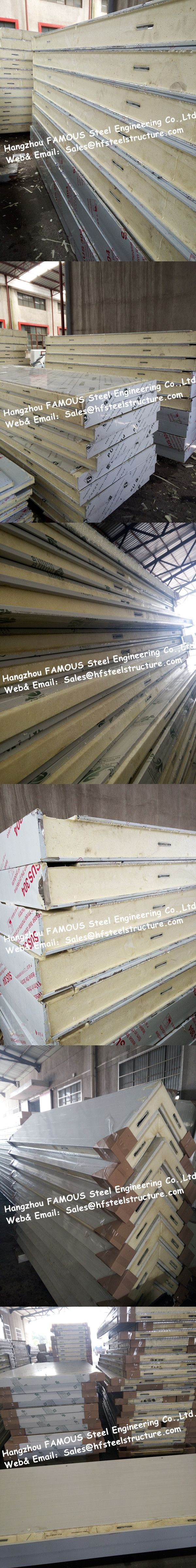 Polyurethane PU Sandwich Panel For Cold Storage And Insulation Material Cold Room Panel Width 960mm