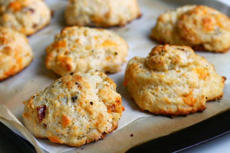 : Cheddar & Bacon Buttermilk Drop Biscuits | Persnickety Biscuit ...
