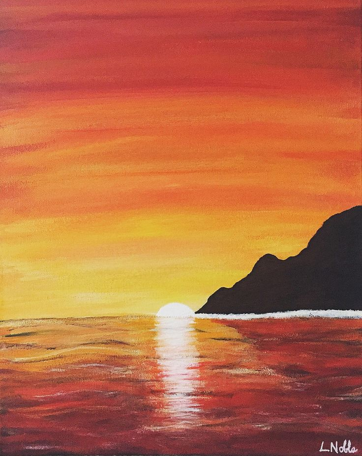 A personal favorite from my Etsy shop https://www.etsy.com/ca/listing/256690574/16x20-original-island-in-the-sunset