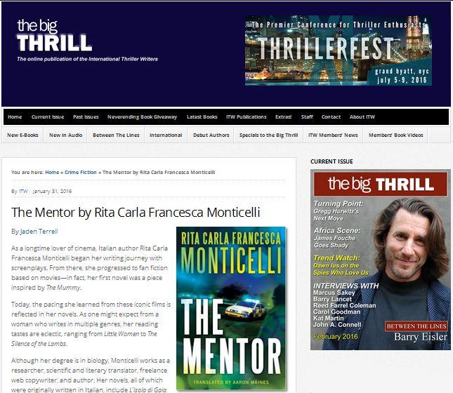 """The Mentor"" featured on The Big Thrill http://dld.bz/emk6U #crimethriller #CSI #TheMentor #ScotlandYard"