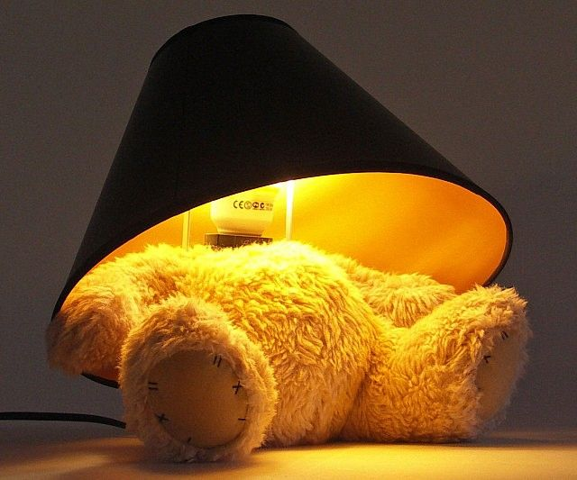 The Teddy bear lamp is the ideal lighting fixture for any baby or kid's nursery.The decapitated Teddy connects via USB with plug adapters and gives off a soft warm glow that won't overpower the room or wake up your precious bundle of joy as she slumbers. $143.99