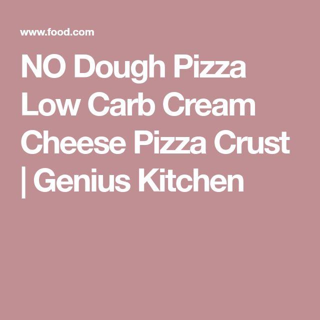NO Dough Pizza Low Carb Cream Cheese Pizza Crust | Genius Kitchen