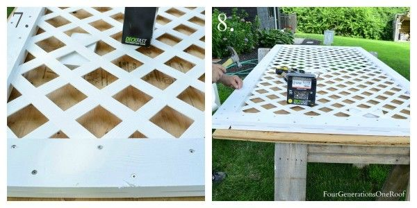 How to build a lattice privacy screen on a budget tutorial for How to build a lattice screen fence