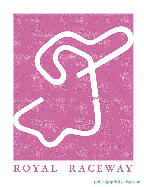 Mario Kart 64 Royal Raceway Track Map Poster by Pidesignprints | Video Game Wall Art | Super Mario Decor