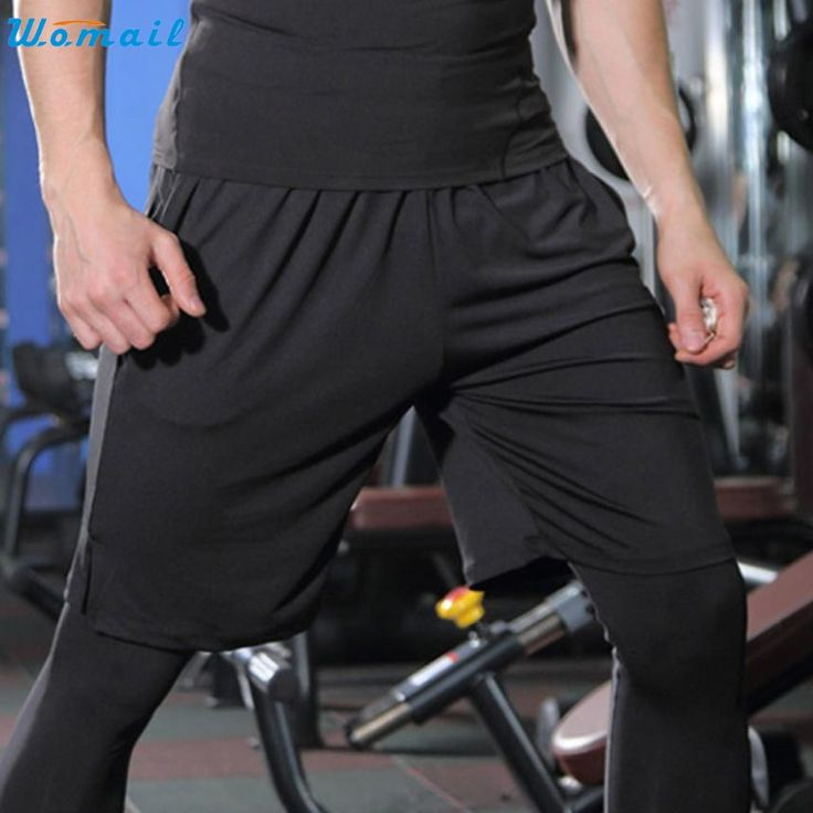 Womail Men's Running Shorts Fitness Jogging Yoga Pants Gifts Mens Basketball Sports Fitness Jogging Quick-drying Pants 1PC 1PC #Affiliate
