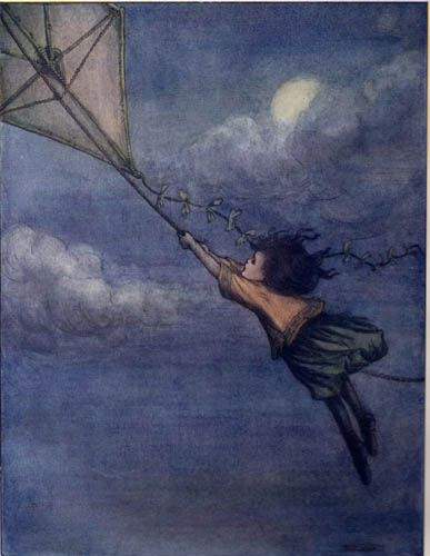 Wendy and Kite, from Peter Pan's A.B.C.'s, illustrated by Flora White