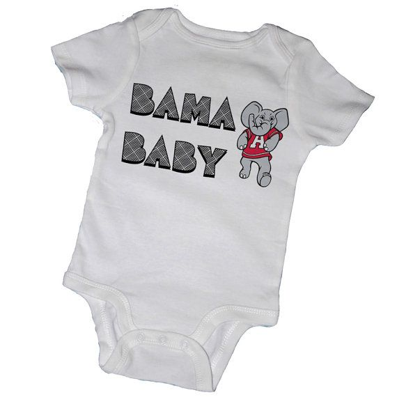 BAMA BABY BodysuitsCrimson Tide Roll Tide Alabama by EmbryLu, $14.00
