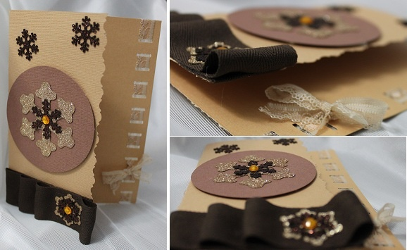 brown ribbon Christmas card - our favourite :)