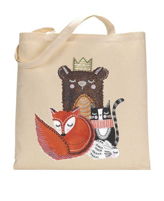 VIDA Tote Bag - Mr Bear by VIDA Qpnqhfu