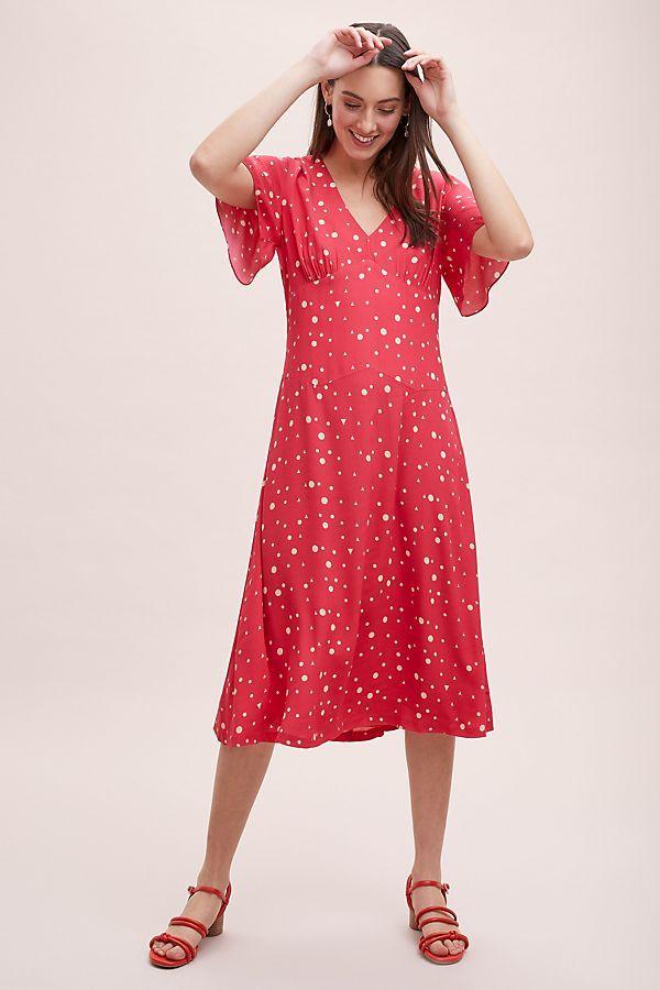 d3321fa470 Kachel Betty Spot-Print Midi Dress in 2019 | Love to Wear: Spring Fashion |  Dresses, Fashion, Short sleeve dresses