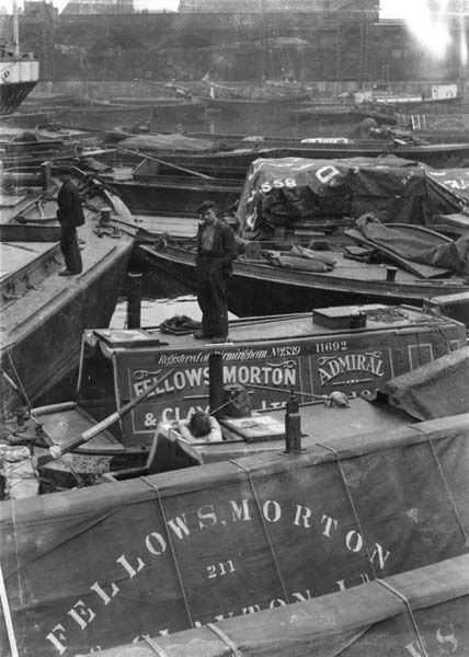 Narrow boats moored in Limehouse Basin | Museum of London
